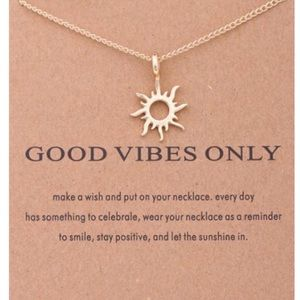 "Golden ""GOOD VIBES"" Necklace"